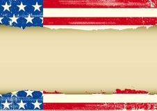 美国水平的肮脏的框架 免版税库存图片