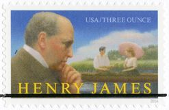 美国- 2016年:展示亨利・詹姆斯1843-1916,系列文艺艺术 免版税库存照片