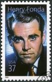 美国- 2005年:展示亨利杰恩斯Fonda 1905-1982,演员 免版税库存图片