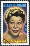 美国- 2007年:展示埃拉珍妮菲茨杰拉德1917-1996,美国爵士乐歌手 免版税库存照片