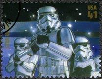 美国- 2007年:展示突击队员,电影星际大战30周年系列首放  免版税库存图片