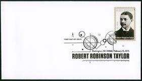 美国- 2015年:展示罗伯特・鲁宾逊泰勒1868-1942,美国建筑师,黑遗产 免版税库存图片