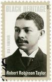 美国- 2015年:展示罗伯特・鲁宾逊泰勒1868-1942,美国建筑师,黑遗产 免版税图库摄影