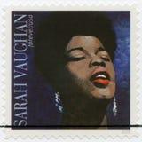美国- 2016年:展示萨拉伊洛沃恩1924-1990,美国爵士乐歌手 免版税图库摄影