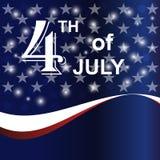 美国7月4日迅速增加背景 库存照片
