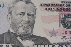 美国总统格兰特的画象 库存照片