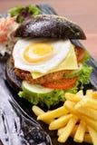 美国黑汉堡 库存图片