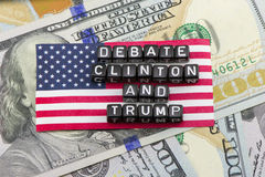 美国总统的职务的辩论 免版税库存图片
