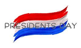 美国总统的Day全国颜色油漆冲程 免版税图库摄影