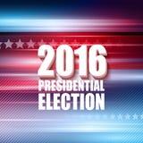 2016美国总统选举海报 也corel凹道例证向量 库存照片