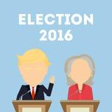 美国总统选举 向量例证