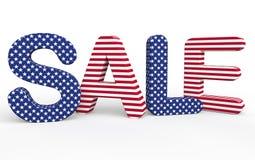 美国主题的3d销售文本 免版税库存照片