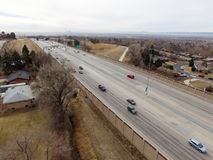 美国36高速公路在丹佛科罗拉多 库存照片