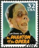 美国- 1997年:显示利奥尼达斯弗兰克Lon钱尼画象1883-1930作为歌剧的幽灵,系列经典电影妖怪 库存照片