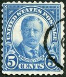 美国- 1920年:显示西奥多・罗斯福(1858-1919),美国的第26位总统总统画象  免版税库存图片