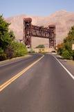 美国12 Lewiston吊桥斯内克河历史站点 免版税库存照片