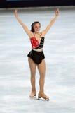 美国ashley花样滑冰运动员 库存照片