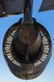 美国C-17 Globemaster喷气机引擎 图库摄影