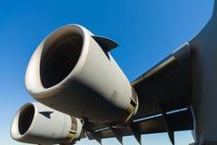 美国C-17 Globemaster喷气机运输飞机 免版税库存照片