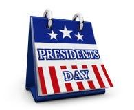 美国Day Calendar总统 皇族释放例证