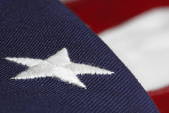 美国embroided标志星形 免版税库存照片