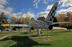 美国F86 Sabrejet韩战战斗机 免版税库存照片