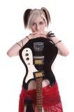 美国goth吉他 库存照片