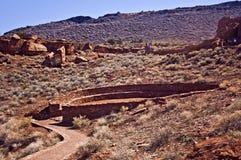 美国kiva当地废墟wupatki 免版税库存照片