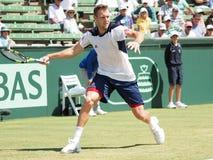 美国Kooyong的网球员杰克・索克 免版税库存图片