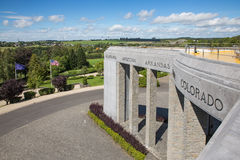 美国WW2纪念突出部之役在巴斯托涅,比利时 免版税库存图片