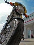 美女摩托车 免版税库存图片