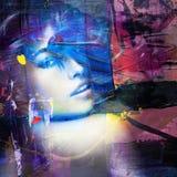 美女画象五颜六色的混合 库存图片