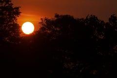 美好与云彩的日出和天空 库存图片