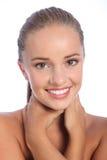 美好使目炫愉快的微笑妇女年轻人 图库摄影