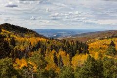 美好和五颜六色的科罗拉多落矶山脉秋天风景 免版税库存图片