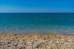美好和五颜六色的风景海风景背景 免版税库存照片