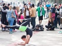 美好和惊人的街道杂技演员艺术家galipan的镇加拉加斯委内瑞拉 免版税库存照片