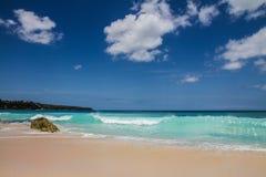 美好和空的理想国海滩巴厘岛,印度尼西亚 库存图片