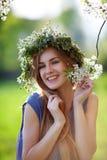 美好女孩微笑 免版税库存照片