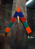 美好提供为在Basgo修道院的菩萨雕象在拉达克 免版税库存图片