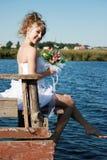 美好新娘微笑 免版税库存图片