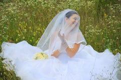 美好新娘笑 库存照片
