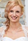 美好新娘纵向微笑 免版税库存照片