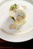 美好用餐,被充塞的绿色南瓜用山羊乳干酪 库存图片