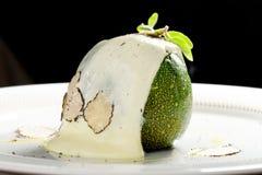 美好用餐,被充塞的绿色南瓜用山羊乳干酪 图库摄影