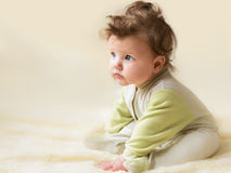 美好的一点婴孩开会 免版税库存照片