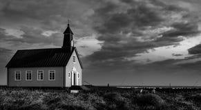 美好的一点chappel在冰岛 免版税库存照片