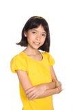 美好的中国欧洲女孩父项 免版税库存照片
