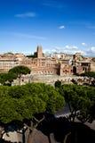 美好的中心罗马视图 免版税库存照片