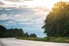 美好的乡下日路夏天 免版税库存照片